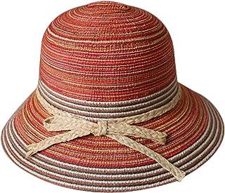 e1ea42604fd diffstyle Women Cloche Hat Flower Bowler Bucket Hat Straw Floppy Sun Hat
