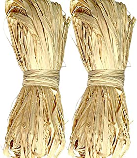 2 Pack Natural Raffia for Florist Bouquets Decoration Crafts Weaving Garden
