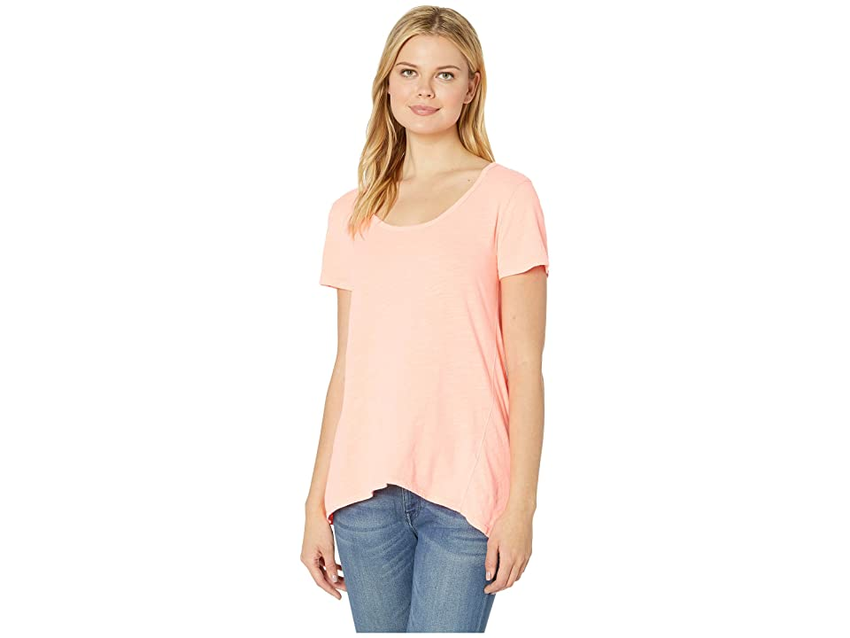 Fresh Produce Luna Top (Sunkissed Orange) Women's Short Sleeve Pullover