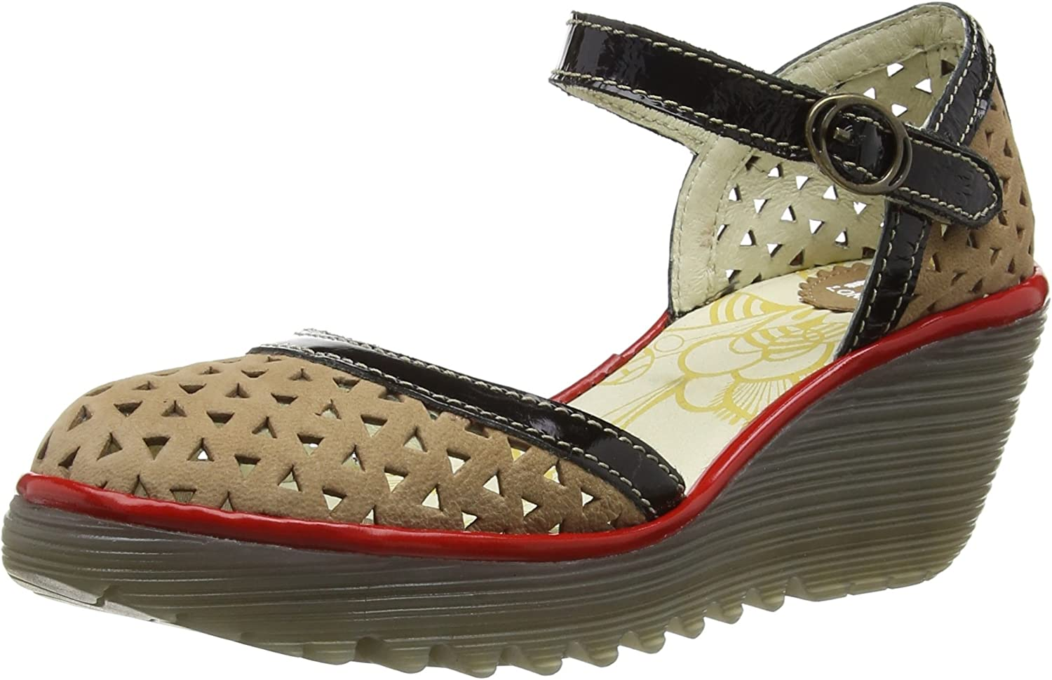 FLY London YUDE646FLY Damen Durchgngies Plateau Sandalen