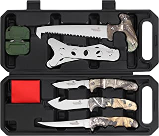 Field Dressing Kit Hunting Knife Set, 7-Piece Portable...