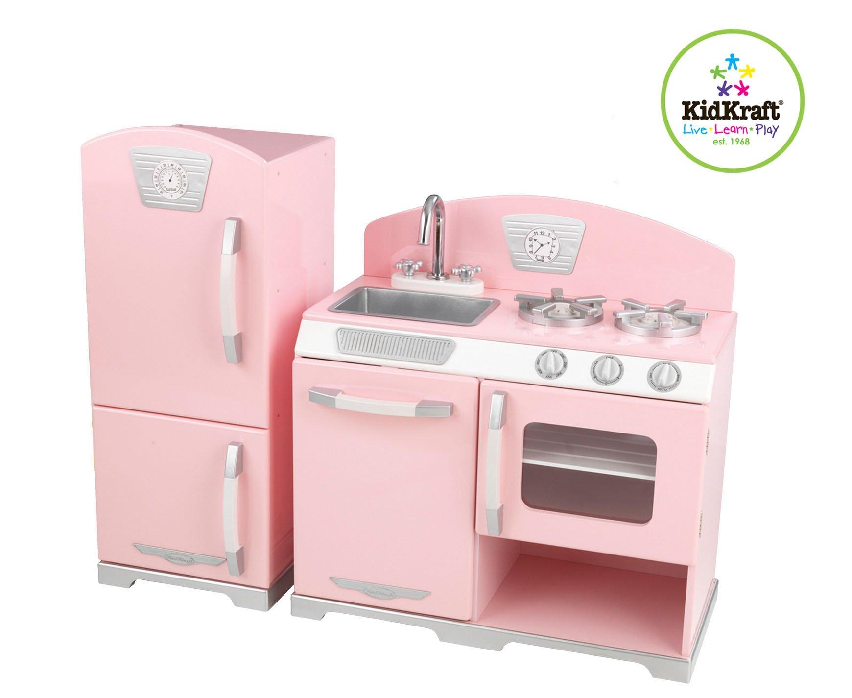 Kidkraft Retro Kitchen Refrigerator Pink