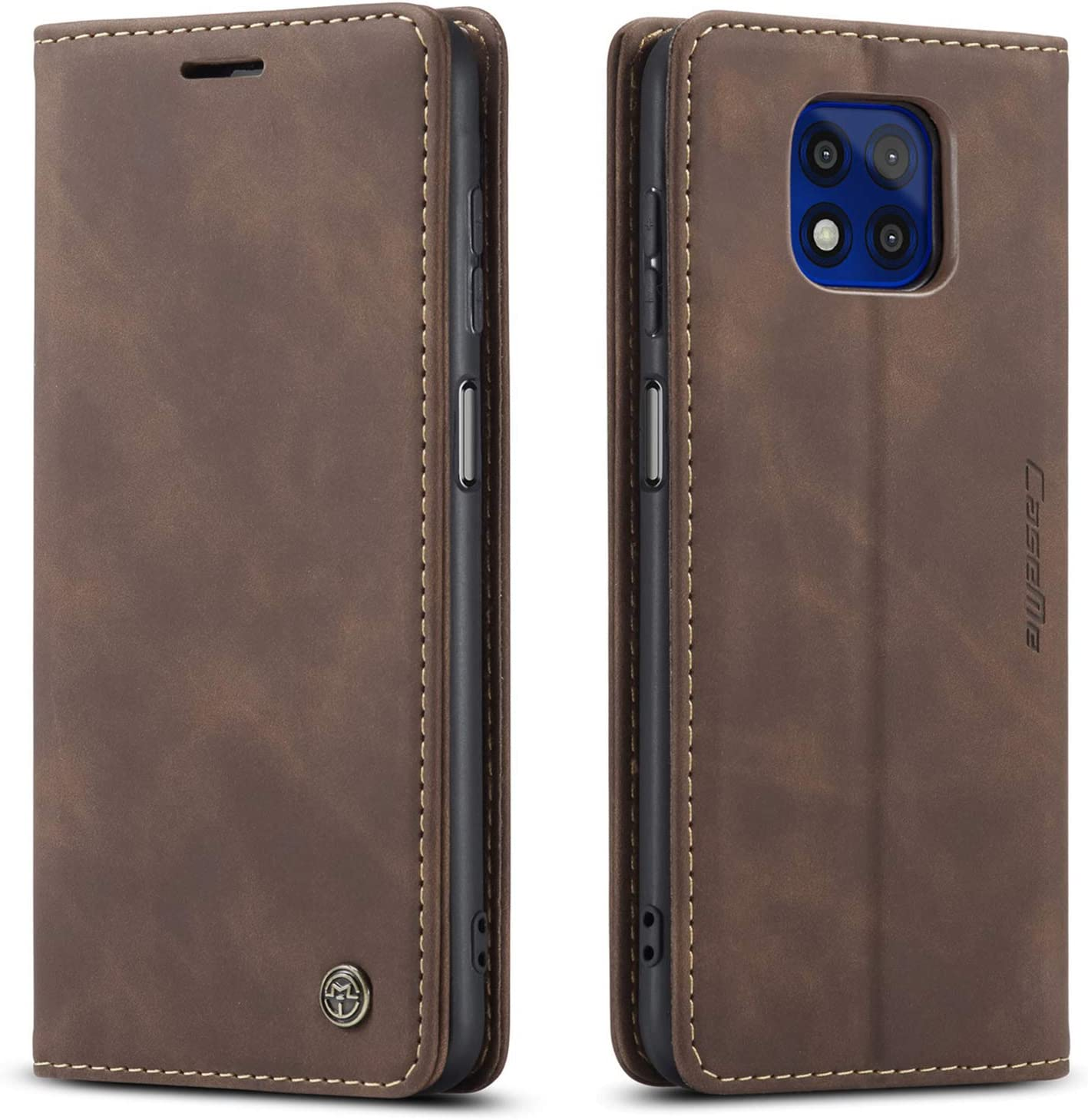 Kowauri Flip Case for Moto G Power 2021,Leather Wallet Case Classic Design with Card Slot and Magnetic Closure Flip Fold Case for Motorola Moto G Power 2021 (Coffee)