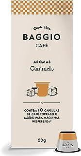 Cápsulas de Café Aroma Caramelo Baggio Café, compatível com Nespresso, contém 10 cápsulas