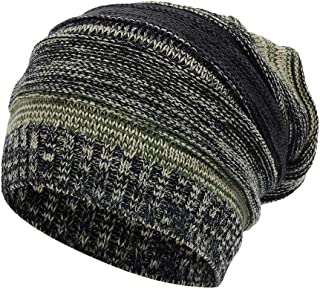 Ridkodg Winter Fall Trendy Slouchy Fashion Beanie Caps for Men