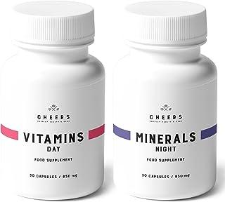 Fórmula multivitamínica y mineral - 2x 30 cápsulas - Vitamina C y tabletas multivitamínicas y minerales - Suplemento natural