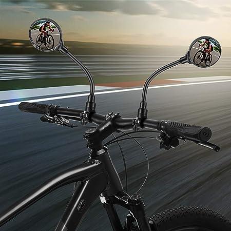 Kampre Fahrradhelm Spiegel 360 /° Verstellbarer Leichter Fahrradr/ückspiegel f/ür Radfahren Reiten Motorrad