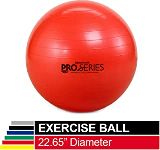 TheraBand Exercise Ball, Professional Series Stability Ball with 55 cm Diameter for Athletes 5'1