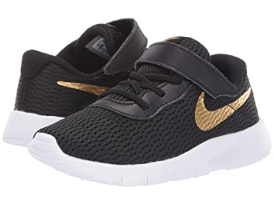 Nike Kids Tanjun (Infant/Toddler) (Black/Metallic Gold/White) Boys Shoes