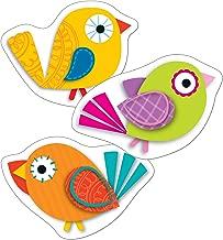 Carson Dellosa – Boho Birds Mini Colorful Cut-Outs, Classroom Décor, 36 Pieces