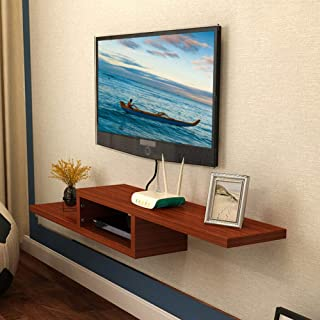 Tv Shelf Wall Mounted, Modern Tv Console 2 Tier Floating Shelf Media Console for Cable Boxes Routers Remotes Cd Living Room
