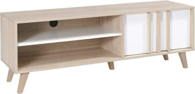 Marca Amazon -Movian Moselle - Mueble para TV (roble Sonoma/blanco alpino)