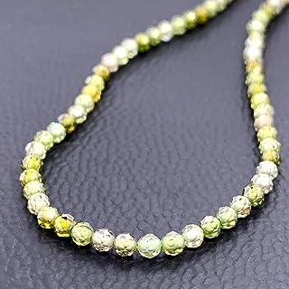 1001 Cristal de circonita verde con Cuerda de bola facetada 2,5 mm/40 cm