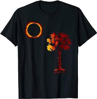 South Carolina Solar Eclipse 2017 T-Shirt - Palmetto Flag
