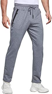 JustSun Tracksuit Bottoms Mens Joggers Slim Fit Gym Sports with Zip Pockets
