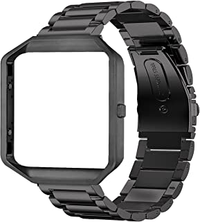 Oitom Metal Bands Compatible with Fitbit Blaze Large,Frame Housing+Stainless Steel..