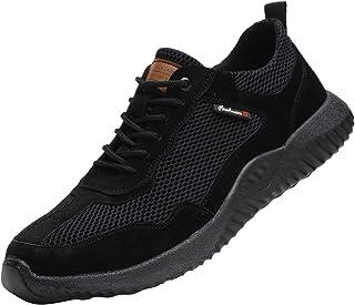 Gainsera Zapatos de Seguridad Zapatos de Trabajo Zapatos con Punta de Acero Ligero y Transpirable Hombres Mujeres Deportes...