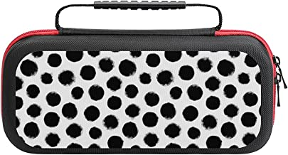$26 » Grunge Polka Dot Case Compatible with Switch Case Protective Carry Bag Hard Shell Storage Bag Portable Travel Case for Swi...