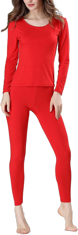 Women's Thermal Underwear Super Soft Thermal Underwear Pajamas Set Thin Cotton Base Underwear Slim Body