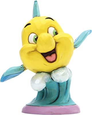Enesco Disney Traditions by Jim Shore The Littlee Mermaid Flounder Personality Pose Figurine, 2.95 Inch, Multicolor