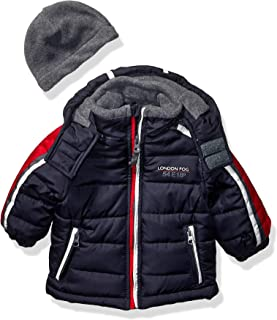 London Fog Boys' Little Active Puffer Jacket Winter Coat, Super Navy, 7