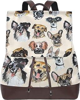 FAJRO - Mochila de viaje de piel para perros
