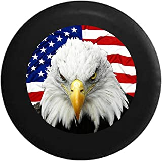 Patriotic American Eagle with USA Flag Spare Tire Cover fits SUV Camper RV Accessories 33 in