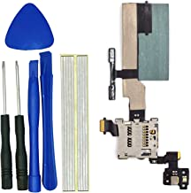 klesti SD Card Reader Flex Cable Distance Sensing Volume Button Flex Cable Replacement Compatible with HTC One M8