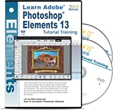 Adobe Photoshop Elements 13 Training on 2 DVDs, 15 Hours in 223 Video Lessons Computer Software Video Tutorials