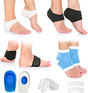 Plantar Fasciitis Foot Pain Relief 14-Piece Kit � Premium Planter Fasciitis Support, Gel Heel Spur & Therapy Wraps, Compression Socks, Foot Sleeves, Arch Supports, Heel Cushion Inserts & Heel Grips