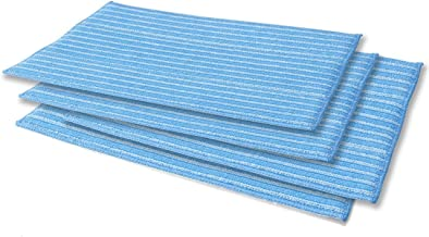 Haan RMF-4X Ultra-Clean Pads, Ultra-Microfiber Steam Cleaning Pads for All FS, SI and MS Series Steamers; 4 Pack