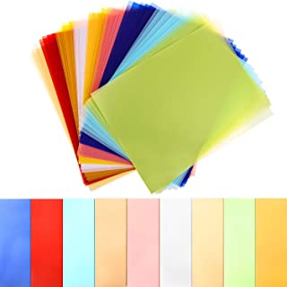 Colored Vellum Paper 8.5 x 11, Cridoz 45 Sheets 9 Colors Transparent Clear Vellum Paper Translucent Tracing Paper Printable Vellum Drafting Sheets for Printing Drawing Ink Jet Laser Printer