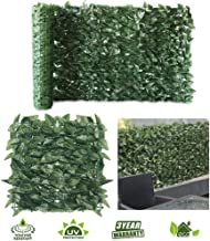 · Petgrow · Artificial Ivy Trellis Fence Privacy Screen, Faux Foliage Leaf Privacy Outdoor Boxwood Ivy,DIY Decorations for Fence Garden Backdrop, 2 Rolls