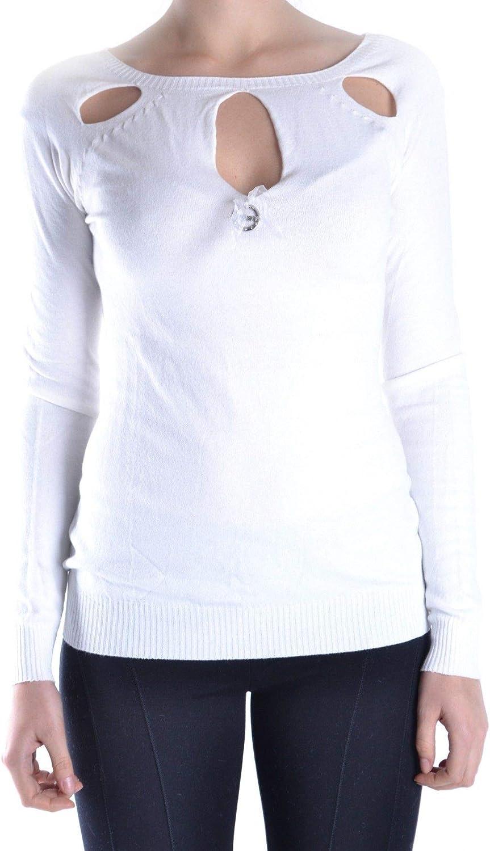 bluegirl Women's MCBI12883 White Polyamide Jumper