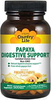 Country Life Papaya Digestive Support 500 Wafers
