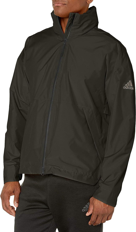 adidas Now 1 year warranty free shipping outdoor Mens Urban Rain Jacket Climaproof