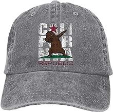 Unisex Dabbing California Bear Flag Dab Vintage Chic Denim Adjustable Dad Hats Baseball Cap Black