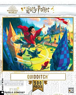 New York Puzzle Company - Harry Potter Quidditch 500-500 Piece Jigsaw Puzzle