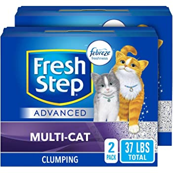 Fresh Step Multi-Cat with Febreze Freshness, Clumping Cat Litter