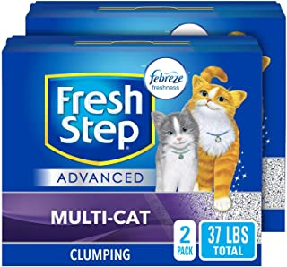 Fresh Step Advanced Multi-Cat Clumping Cat Litter with Odor Control - 37 lb