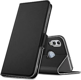 Huawei Y6 Pro 2019 ケース KuGi Huawei Y6 2019 カバー スタンド機能 横開き 軽量 薄型 耐衝撃 高級 PUレザー 折り畳み式 Huawei Honor 8A 手帳型ケース 全面保護カバー カード収納 ブラック