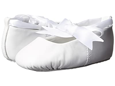 Baby Deer Sabrina Ballet (Toddler/Little Kid) (White Leather) Girls Shoes