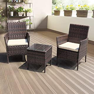 DIMAR GARDEN 3 Pieces Outdoor Patio Furniture Set Porch...