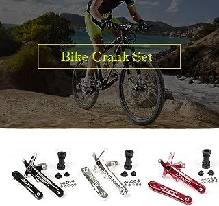 Explopur Bike Cycling Bicycle 170MM Crank Foling Bike Fix Gear Crankset Bike Crank Arm Set BCD 130MM 5 Square Crank Set with Bottom Brackets