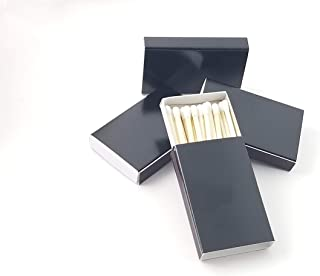 Party Favors Plus 50 Plain Black Cover Wooden Matches Box Matches
