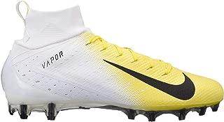 Nike Mens Vapor Untouchable 3 Pro Football Cleats (White/Yellow, 7)
