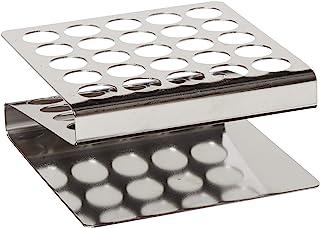 "Globe Scientific 457200 فولاد ضد زنگ ""Z"" شکل رک لوله، لوله های 16 / 17mm، 25-Place"