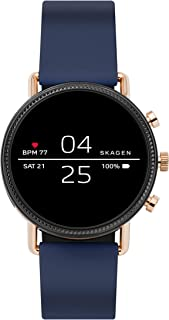 Skagen Falster 2(42mm, Blue) Silicone Touchscreen Unisex Smartwatch with Heart Rate, GPS, Music storage and Smartphone Not...