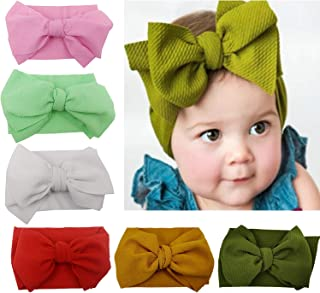 6 Packs Baby Headbands Baby Turban Headwraps Hats Turban Bun Knot Baby Infant Beanie Baby Girl Soft Cute Toddler Cap