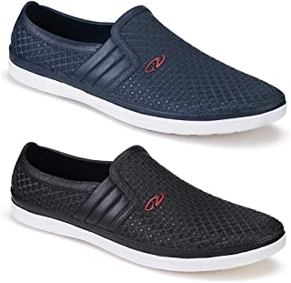 Bersache Shoes Combo Pack of 2 Party Casual Shoes, Outdoor Boots,Best Rates, Canvas Shoes,Sneakers Shoes, Loafers Shoes, Sports Shoes,Light Weight Comfortable for Men's/Boy's